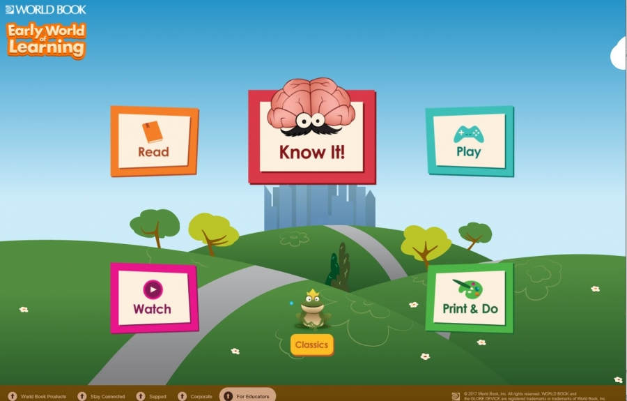 World Book Early World of Learning homepage