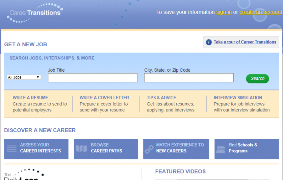 Career Transitions homepage